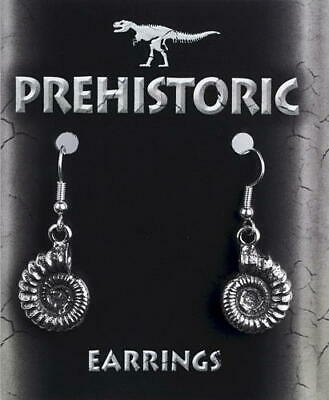 Pewter Ammonite Earrings