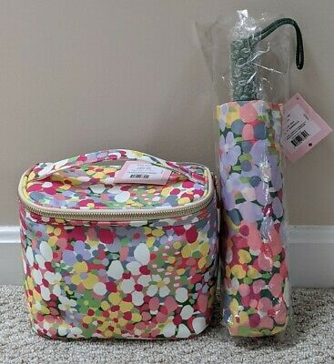 Kate Spade Floral Dot Insulated Lunch Tote With Matching Travel Umbrella