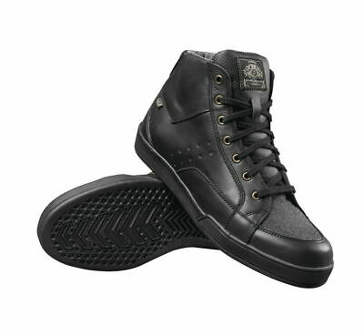 RSD Roland Sands Design Fresno Waterproof Black Motorcycle Shoe Cheater Boot 8.5