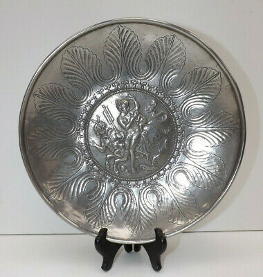 Exact Replica of 6th century Christian Silver Dish Showing The Nynph Ino & Son