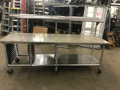 "All Stainless Steel Table w/ 1"" Granite Top - 10 AVAILABLE"