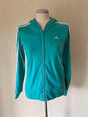 Adidas Children's Kids Mint Green Sport Track Jacket Tracksuit Top Hoodie Age 14