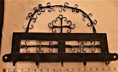 Old Wrought Iron Scrolled Wall Hook Fixture