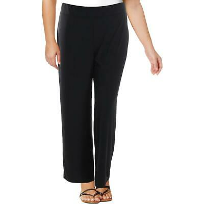 NY Collection Womens Stretch Flat Front Pull On Wide Leg Pants BHFO 3414