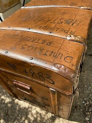 Old Greek Migrant's Trunk 1950's To Australia Dimitrios Petropoulos To Adelaide