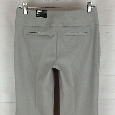 Express Editor womens 0 x 33 stretch gray flat front flare dress career pant NWT