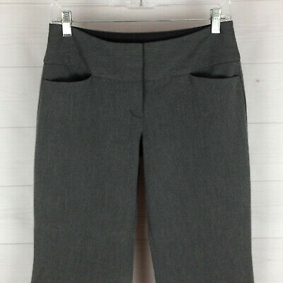Express Editor womens size 0S stretch gray flat front bootcut career dress pants