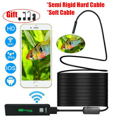 Endoscope WiFi camera d'inspection étanche Camera 8 LED pour Android iOS 5m 8mm