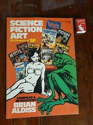Science Fiction Art The Fantasies of SF ~ BRIAN ALDISS 1st Ed 1975 ~ OVERSIZED
