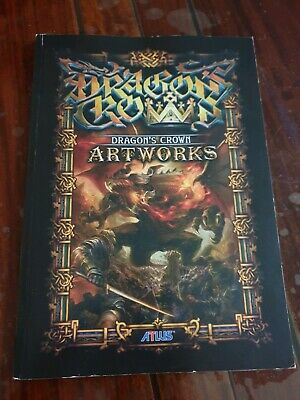 DRAGON'S CROWN ARTWORKS BOOK  dragons art works atlus ~ ENGLISH EDITION ~