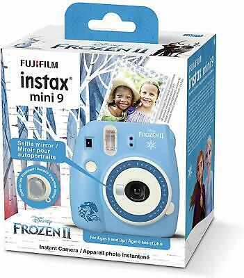 NEW Fujifilm Instax Mini 9 Instant Camera Disney Frozen 2 Edition Snaps & Print