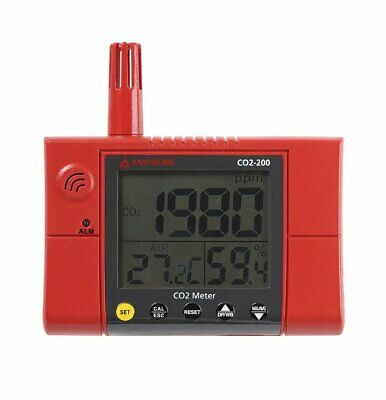 Amprobe CO2-200 Wall-Mounted CO2 Meter 380 to 2000 PPM