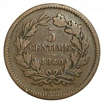 LUXEMBOURG 5 Centimes 1860