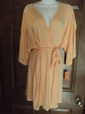 Gilligan & O'Malley Sleepwear Robe Total Comfort Peach Sorbet NEW With Tags