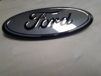 Black Oval Rear Liftgate Tailgate Emblem Nameplate for Ford Pickup Truck SUV