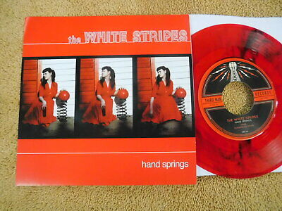 The White Stripes  - Hand Springs -  COLORED VINYL Picture Sleeve PS 7""