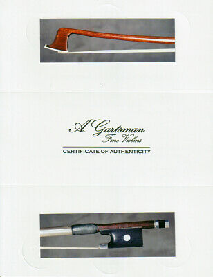 A very fine French certified violin bow C.N. Bazin, ca. 1910, branded SIMON FR.