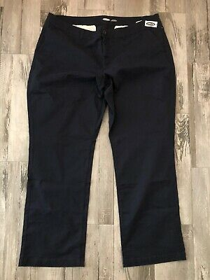 Old Navy Womens Nwt Pants Plus Size 22 Long Navy Blue Boot Cut Slim Pockets New