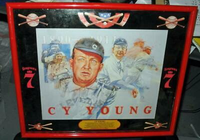 """Seagram's Seven Crown Baseball Legends Bar Cy Young 20"""" X 16"""""""