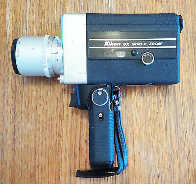 Nikon 8x Zoom Super 8 Movie Camera+7.5-60mm/f1.8 lens -*SAFE DELIVERY AVAIL*
