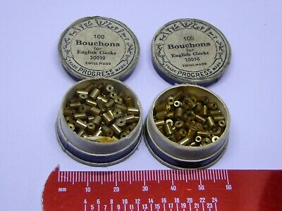 Watchmaker's Vintage Old Stock Bouchons Bushes for English Clocks Ref#21