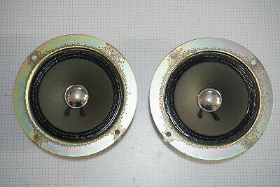 """Pair of Foster 5"""" 8 Ohm C100M07A9061 Mid Range Speaker Drivers TAIWAN"""