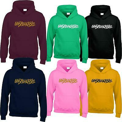 Unspeakable Youtuber Kids Hoodie Funny Youtuber Gaming Boys Girls Top Tee Hoody