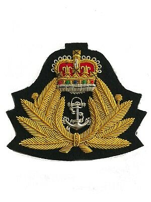 HMS VULCAN BLAZER BADGE BULLION GOLD WIRE