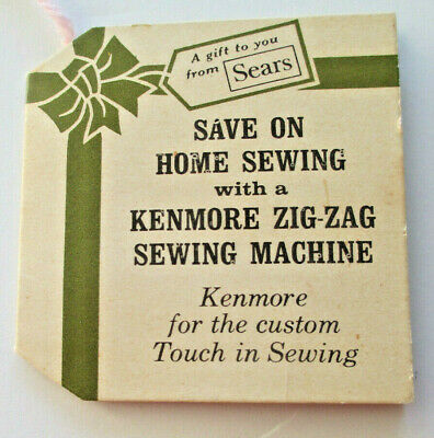 Vintage Sears Kenmore Zig-Zag Sewing Machine Needle Book Made in Japan, 1960's