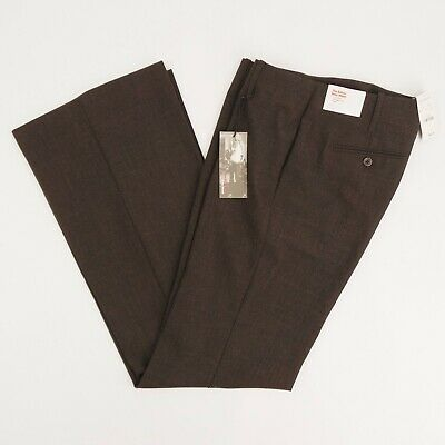 NEW Express Editor Sexy Waist Womens 6 Brown Low Rise Straight Flare Pants NWT