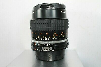 NIKON MICRO-NIKKOR 55mm F 2.8 A-iS  MACRO LENS MANUAL FOCUS