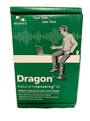 Nuance Dragon Naturally Speaking 10 Speech Recognition Software - New Open Box