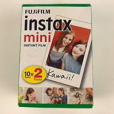 20 SHEETS Fujifilm Instax Instant Film For All Fuji Mini Cameras Expired 2019