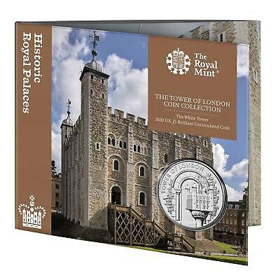 The White Tower 2020 UK £5 Brilliant Uncirculated Coin in Royal Mint Sealed Pack