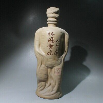 Collectable China Ceramic Handwork Carve Ginseng Shape Rare Decorate Pot Statue