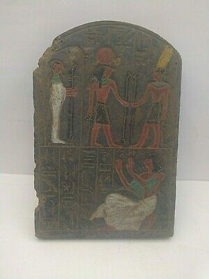 RARE ANCIENT EGYPTIAN ANTIQUE Horus and Ramses II Stella 1325-1244 BC