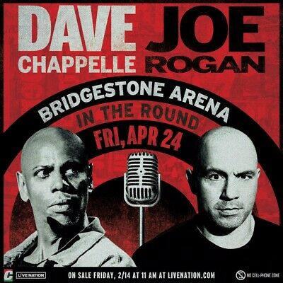 Dave Chapelle Joe Rogan Comedy Show Nashville April 24