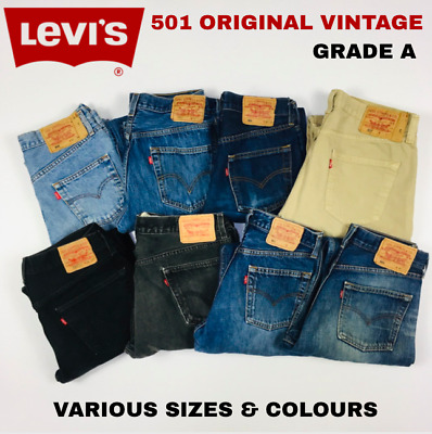Levi's 501 Levi Original Denim Jeans Grade A All Sizes & Colours Vintage Retro