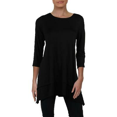 Eileen Fisher Womens Tiered Three-Quarter Sleeves Pullover Top Tunic BHFO 6017