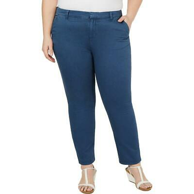 Style & Co. Womens Mid Rise Chino Workwear Ankle Pants Plus BHFO 0341