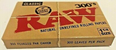 """Raw 300's Classic Authentic Rolling Papers 1.25""""  **FREE SHIPPING**"""