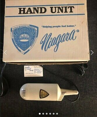 Niagara hand held massage unit with attachment massager Collectable Rare QZZQ