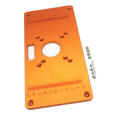 Router Table Insert Plate Aluminum Board Trimming Machine for Woodwork 235x120mm
