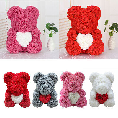 40cm Rose Teddy Bear Foam Flower Heart Bear Gift Birthday Wedding Mother's Day