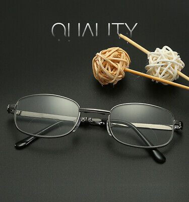Personalized round frame double light metal folding portable reading glasses HD
