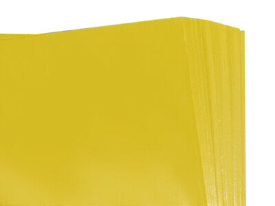 BRAND NEW YELLOW COLOURED ACID FREE TISSUE PAPER 375mm x 500mm / TOP QUALITY