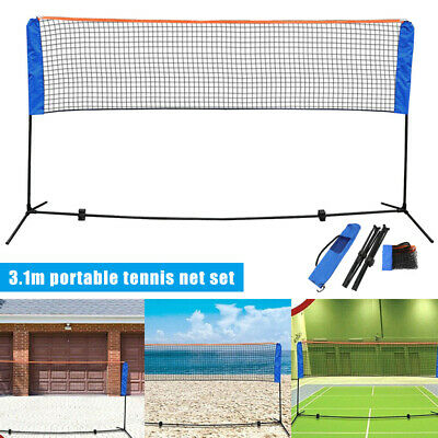 10 Feet Badminton Volleyball Tennis Net Set w/ Stand Frame Carry Bag for School