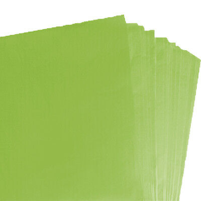 BRAND NEW LIME GREEN COLOURED ACID FREE TISSUE PAPER 375mm x 500mm/ TOP QUALITY