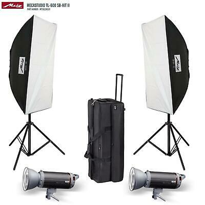 BRAND NEW Metz Mecastudio TL600SB Twin Head Studio Flash KITII RRP$1804