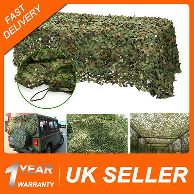 2*3m Army Military Camouflage Net Camo Paintball Shooting Hunting Hide Woodland